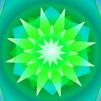 мандала зелена звезда