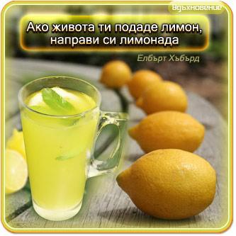 Ако живота ти подаде лимон, направи си лимонада