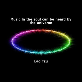 Music in the soul can be heard by the universe